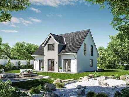Haus am Wasser mit Kamin