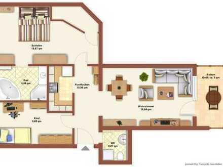 Helle 3-Zimmer-Wohnung mit guter Aufteilung, Balkon und Stellplatz