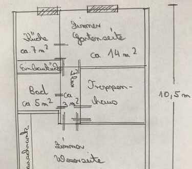 2 Zimmer Dachgeschosswohnung mit Weserblick
