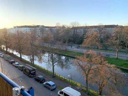 Blick auf den Neuköllner-Schifffahrtskanal! Helle 3-Zimmer-Eigentumswohnung in Berlin-Neukölln
