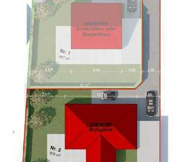 Baugrundstück mit Planung im Stadtgebiet!