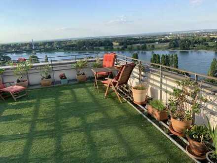 Urlaub zu Hause - Maisonettewohnung am Rhein