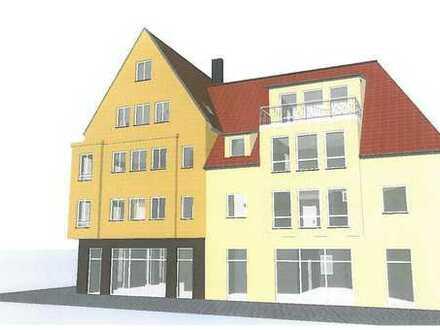 Neubau eines Mehrfamilienhauses mit Gewerbeeinheiten in 15907 Lübben Brückenplatz