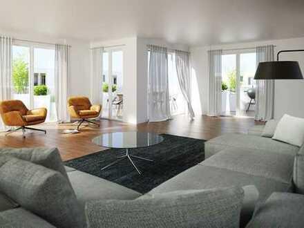 Neubau 5-Zimmer-ETW mit 2 Loggien, großem Dachgarten sowie 2 Bädern im Hatz-Areal