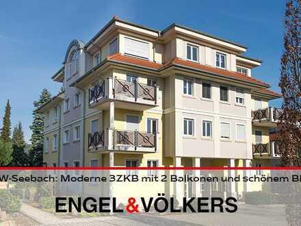 DÜW-Seebach: Moderne und helle 3-Zimmer-Wohnung mit 2 Balkonen und schönem Blick in gesuchter Lage!