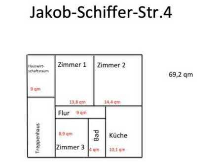 Schöne, modernisierte 3-Zimmer-DG-Wohnung in Eisenberg (Pfalz)