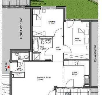 Attraktive 3-Raum Wohnung (Hochparterre) mit offener Küche und Balkon