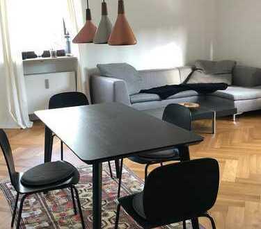 Sonnige, vollmöblierte 2-Zimmer-Wohnung in der Au mit 2 Balkonen