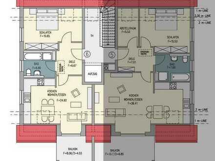 Große 1,5-Zimmer DG-Wohnung mit großen Balkon