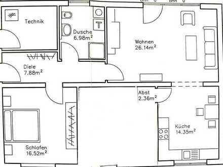 Erstbezug: 2-Zimmer-Wohnung in Zweifamilienhaus, Einbauküche, Terasse, Garten in Flörsheim-Dalsheim