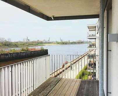 Die Weser zum Greifen nah