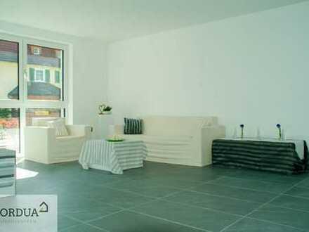 Großzügige 3-Zimmer-Erdgeschosswohnung mit Loggia, Balkon & TG-Platz - ERSTBEZUG