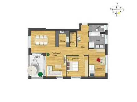 Geräumige 3-Zimmer-Wohnung mit Südwest Loggia
