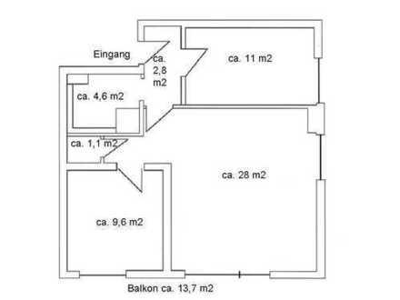 3-Zimmer-Hochparterre-Wohnung mit Balkon und EBK in Tübingen