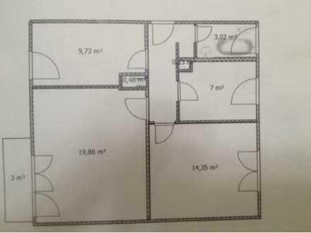 600 €, 60 m², 3 Zimmer