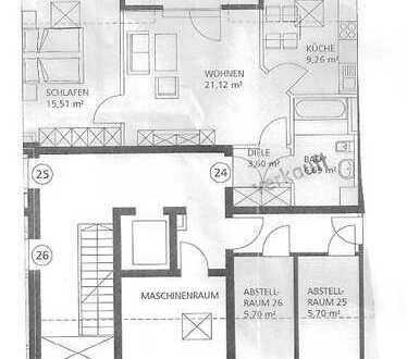 Seniorenwohnung! Exklusive, vollständig renovierte 2,5-Zimmer-DG-Wohnung mit Balkon in Augsburg