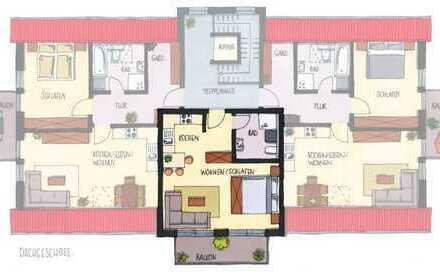 Moderne 1-Zimmer-Wohnung im DG mit Balkon