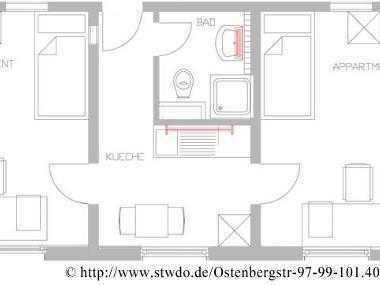 2er WG - kompl. frei - Stud. Wohnheim - Ostenberg