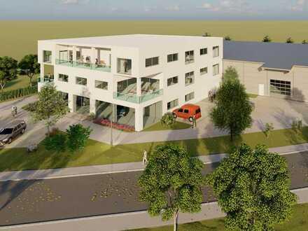 Neubau Bürogebäude mit Gewerbehalle im Gewerbegebiet Achalaich