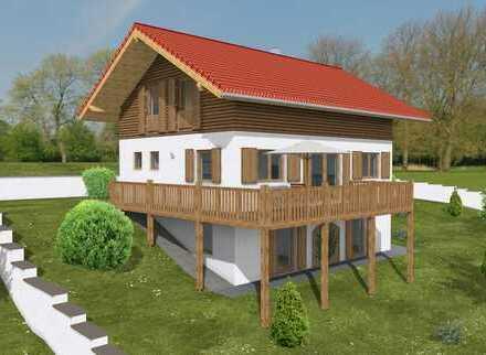 Baubiologisches Holzhaus in sonniger Hanglage