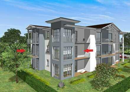 Erstbezug: freundliche und attraktive 3-Zimmer-Wohnung - EBK + 2 Balkons in Bad Doberan / Kammerhof
