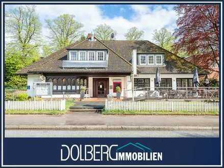 Haus mit verpachtetem Restaurant und bis zu drei Wohnungen in TOP-Lage von Hamburg-Bergstedt!