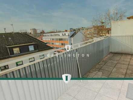 Mit Blick über die Bahnhofsvorstadt!  2-Zimmer-Wohnung mit zwei Balkonen in sehr zentraler Lage.