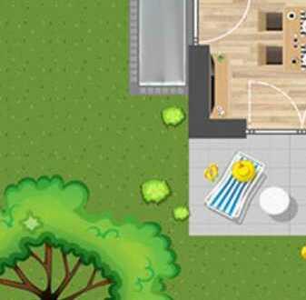 2 Zimmer und toller Garten