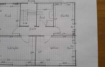 Ansprechend,helle 3-Zimmer-Erdgeschosswohnung mit Balkon in Harthausen