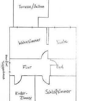 3 Zimmer - Küche - Bad - Dachterrasse
