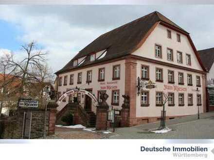 Traditionsreiches Herrschaftshaus mit Restaurant im Stadtkern von Walldürn