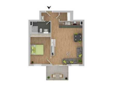 Schöne 2-Zimmerwohnung mit Balkon! [4]