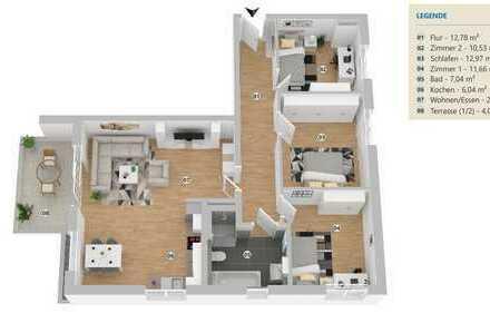 Moderne, großzügige Neubauwohnung in zentraler Lage