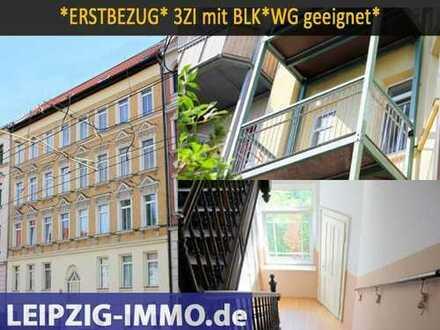 Schicke 3-Raumwohnung mit Südbalkon * Einbauküche * WG geeignet