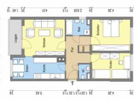 Renovierte 3 ZKB mit Balkon, provisionsfrei Eisenberg