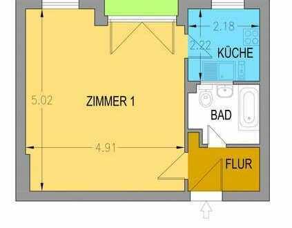 Vermietete Ein-Zimmer-Wohnung mit Balkon in Spandau