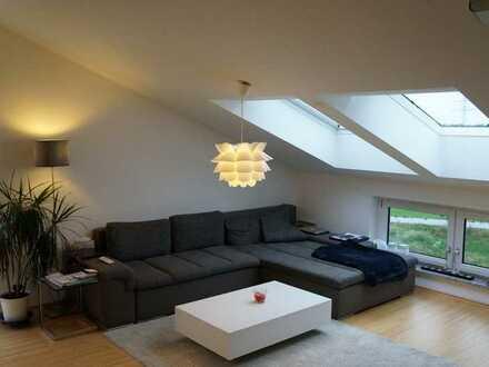 Stilvolle, neuwertige 2-Zimmer-Wohnung mit großer Dachterrasse und EBK in Gögginen