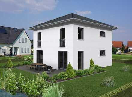 Genehmigte schöne Stadtvilla incl. 1.100m² Grundstück und Doppelgarage in Attenweiler