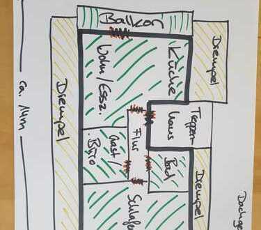 3-Zimmer-DG-Wohnung, neu renoviert, inkl. Klimaanlage