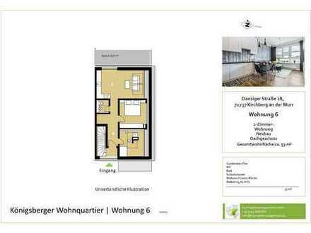 Gemütliche 2,5-Zimmer-Whg. im DG mit Balkon und Aussicht (Whg. 6)