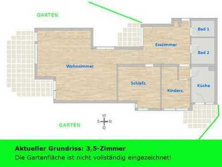 Einzigartige Garten-WHG: ideal gelegen + intelligenter Grundriss