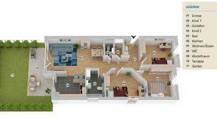 EG mit Garten | 4-Zimmer-Wohnung in bevorzugter Wohnlage von Essen-Heisingen