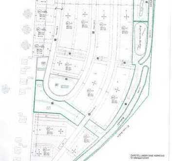 Baugebiet für 46 Baugrundstücke, Bebauungs- u.Erschließungsplan sowie Bebauungsvorschläge vorhanden!