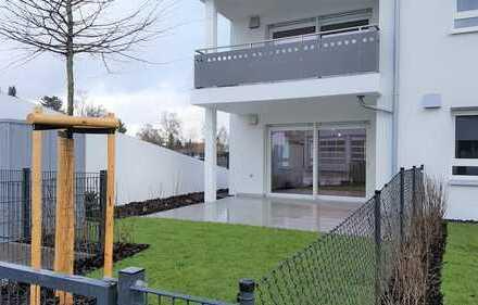 Neue 3-Zimmer-Erdgeschosswohnung mit Garten und Terrasse sowie Tiefgarage in bevorzugter Wohnlage