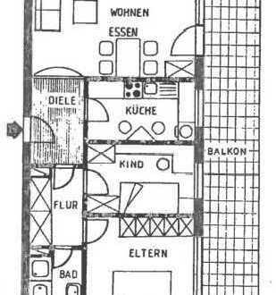 3-Zimmerwohnung mit Balkon, Bergheim, Im Wohnpark 29, Wohnung Nr. 57