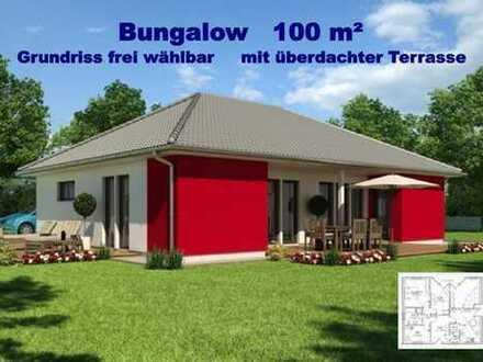 BUNGALOW mit 100 m² Wohnfläche - 3 oder 4 Zimmer - schönes wohnen