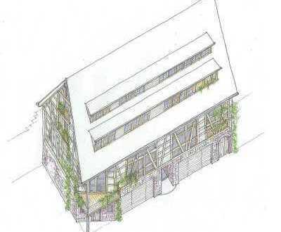 Projektierte exkl. Stadthäuser in einer Tabakscheune in Seckenheim