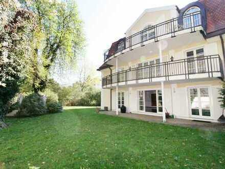 Einmalig! 4-Zimmer Wohnung in Stadtvilla mit eigenem Garten in erster Reihe am Isarhochufer