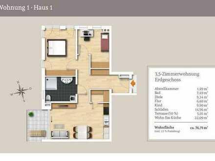 Klassische 3,5-Zi.-Erdgeschosswohnung mit Gartenanteil und Abendsonne