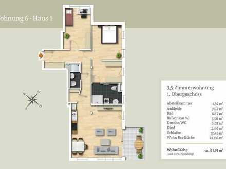 Ideal zur Vermietung - 3,5-Zi.-Wohnung im 1. Obergeschoss inkl. TG-Stellplatz